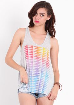 Ombre Shutter Tank by WkShp #threadsence #fashion