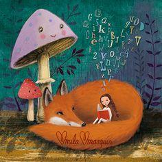 Amigos en la lectura (ilustración de Mila Marquis)