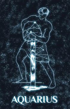 Inked and Screened Greek Constellations Prints Aquarius Art, Sagittarius, Zodiac Art, Zodiac Signs, Tarot, Dark Ink, Star Constellations, Space And Astronomy, Cosmos