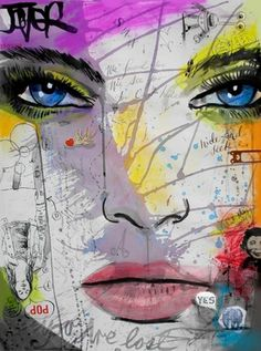 "Saatchi Online Artist Loui Jover; Drawing, ""hide and seek"" #art"