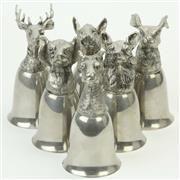 Sale 8399 - Lot 118 - Silver Plated Italian Figural Stirrup Cups