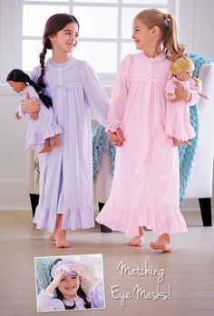 From CWDkids: Peignoir Set & Matching Doll Outfit Girls Sleepwear, Girls Pajamas, Toddler Pajamas, Little Girl Dresses, Girls Dresses, Royal Clothing, Fashion Kids, Womens Fashion, Pyjamas