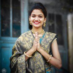Dpz for girls Beautiful Girl Photo, Beautiful Girl Indian, Most Beautiful Indian Actress, Beautiful Women, Stylish Girls Photos, Stylish Girl Pic, Girl Photos, Maharashtrian Saree, Bengali Bridal Makeup