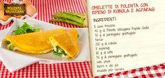 Tira fuori lo chef che c'è in te! Alla classica #omelette aggiungi farina di #mais e scoprirai che bontà. #robiola #asparagi