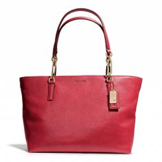Coach :: MADISON EAST/WEST TOTE IN LEATHER