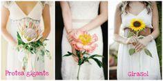 One single flower wedding bouquet / Ramos de una sola flor