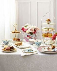 Afternoon tea setting with assorted cakes • CWA Australia recipes