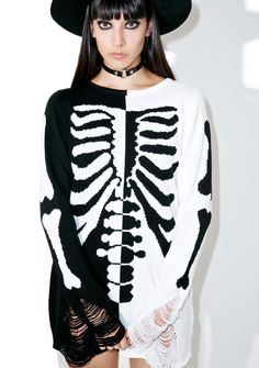 Killstar Skeletor Split-Knit Sweater cuz yer rotten down to yer bones, bb. Make the choice that'll change yer fate in this incredible elongated…