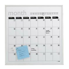 Great way to keep your classes and social calendar organized! Magnetic Monthly Planner | $19.99