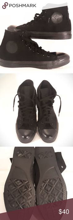 881f3baf323 High Top Converse Chuck Taylor Unisex size 9. They are a black and  beautiful.