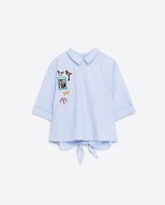 Image 8 of BACK-TIE TOP from Zara