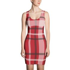 Red plaid dress Beautiful Casual Dresses, Cute Dresses, Dresses For Work, Sunday Outfits, Summer Outfits, Plaid Dress, Red Plaid, Stretches, Grains