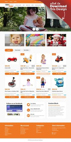 Toys for Kids PrestaShop Theme E-commerce Templates, PrestaShop Themes, Entertainment, Games & Nightlife, Entertainment Templates, Toy Store Templates