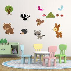 Children's Woodland Animals Wall Stickers Woodland by Mirrorin
