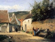 Camille Pissarro, Jacob Coin de village on ArtStack #camille-pissarro #art