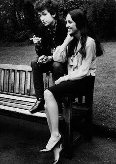 Bob Dylan et Joan Baez, London, 1966 Alan Slade - Google+