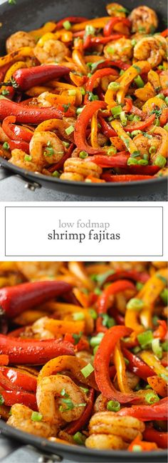 Delicious fajitas without onions or garlic? It is possible with these Low FODMAP Shrimp Fajitas! The best part, this quick and easy recipe is perfect for a busy weeknight meal!