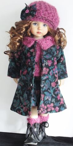 Corduroy coat and set made for Effner little darling dolls