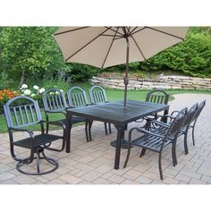 10 piece outdoor dining sets