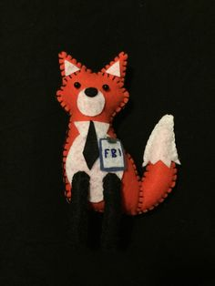 This is my own interpretation of Fox Mulder from The X-Files. I drew out my design so changes can be made if requested. I hand sew all my