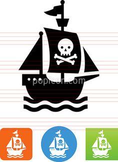 Pirate Ship Icon - Illustration