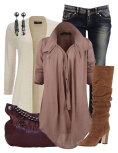 """Tunic Shirt + Boots"" by lbite ❤ liked on Polyvore featuring Wallis, Dolce&Gabbana, Chanel, Manolo Blahnik and DANNIJO"