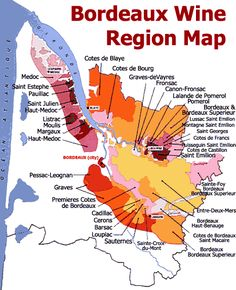 Bordeaux Wine Region Map