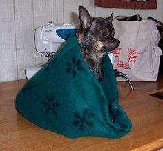 Fleece Snuggle Bag: Finishing Your Snuggle Bag