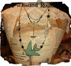 All sizes | Reworked Challenge #2 | Flickr - Photo Sharing! Vintage Corset, Bird Jewelry, Appreciation, Arrow Necklace, Challenges, Reusable Tote Bags, Chain, Crochet, Couple Things