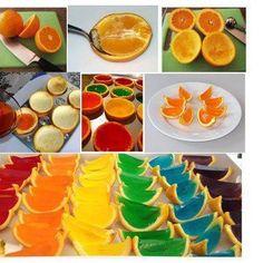 Jell-O shots in orange peels...yummy!
