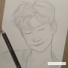 Drawing Bleistift Bts Ideas For 2019 Portrait Sketches, Portrait Illustration, Pencil Portrait, Pencil Illustration, Drawing Portraits, Kpop Drawings, Pencil Art Drawings, Cute Sketches, Drawing Sketches