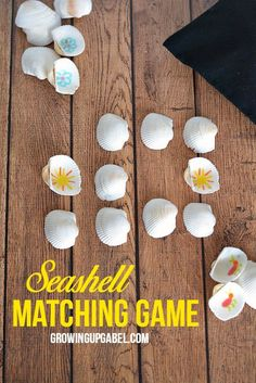 Make a DIY memory game for kids using seashells! This learning game is even more fun when played using shells collected at the beach, but you can also use store bought shells.  Use numbers, letters, shapes or more to learn while playing.