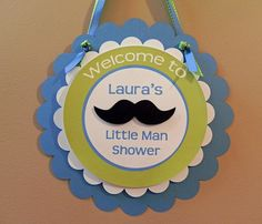 Door Sign: Little Man Mustaches and Ties - Boy Baby Shower or Kids Birthday Party Decorations on Etsy, $13.50