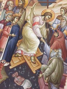 Life Of Christ, Jesus Christ, Hades, Vignettes, Lord, Princess Zelda, Fictional Characters, Christ, Medieval Art