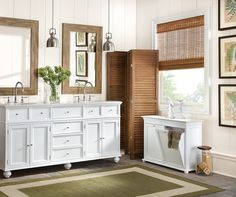Home Decorators Collection - Bath - The Home Depot Linen Cabinets, Laundry Hamper, Double Vanity, Storage Spaces, Decor Styles, House Styles, Master Bath, Interior, Diy Decorating