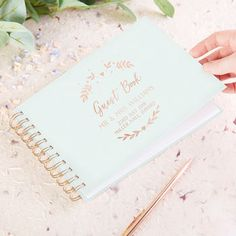 botanical wedding guest book foil by norma&dorothy | notonthehighstreet.com