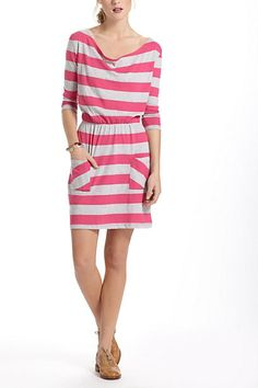 Cute for after the beach! Rugby Stripe Chemise #anthropologie