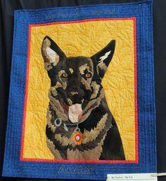 16 Best German Shepherd Dog Quilt Images Bordado Edredones De