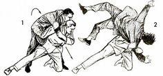 vintage self defense illustration businessman shoulder drop Krav Maga Self Defense, Self Defense Moves, Self Defense Martial Arts, Self Defense Weapons, Martial Arts Techniques, Self Defense Techniques, Aikido, Judo, Jiu Jitsu