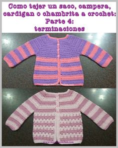 As knitting a bag, jacket, cardigan or crochet or crochet chambrita from canesu48