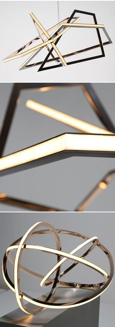 These are incredible! | Lighting | Inspiration | HOW COOL WOULD IT BE to have that in your house. Bronze, glass, LED's.
