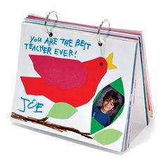 Teacher Appreciation: Feel-Good Flip-Book -> scrapbook filled with messages from students Teacher Thank You, Great Teacher Gifts, Cute Gifts, Teacher Retirement, Teacher Appreciation Week, Handmade Books, School Gifts, Book Crafts, Diy Crafts