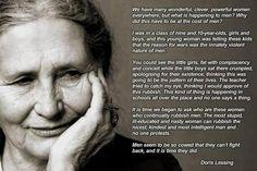 #SpankAFeminist for ignoring Doris Lessing: a #feminist who understood #equality. #MRA #Mensrights #Meninist #Menist