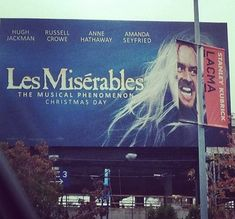 Imagine it: Les Miserables directed by Stanley Kubrick and starring Jack Nicholson, perhaps playing his mad writer character from The Shining. Funny Ads, Funny Signs, The Funny, That's Hilarious, Crazy Funny, Jack Nicholson, The Shining, Sound Of Music, Photos Folles