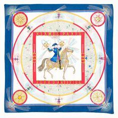 Hermes Scarf In Blue B