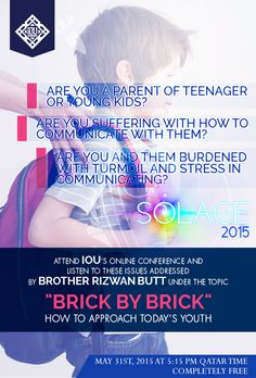 Brick by Brick: How to approach today's youth: Imam Rizwan Butt Islamic Online University, Counseling, Muslim, Brick, Youth, Stress, Knowledge, Parenting, Ads