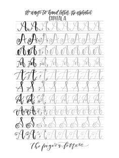Iscrizione pratica fogli della mano  10 modi per mano lettera
