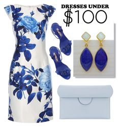 """Floral Dress Blue"" by evanangel ❤ liked on Polyvore featuring Dorothy Perkins, Roksanda and Sophia Webster"