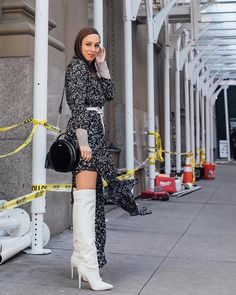 0341703c4fe Sydne Style wears over the knee boots for fashion week street style