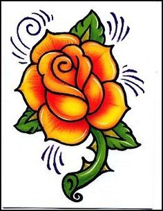 Size: x Description: This yellow rose temporary tattoo can be right in the middle of a nice sleeve or collection of tattoos.
